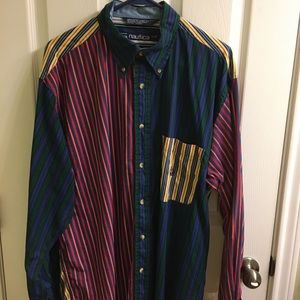 Vintage 90's Nautica Sailboat Long Sleeve Shirt L